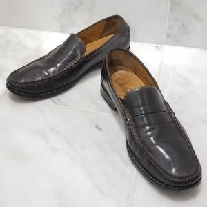 Cole Haan NikeAir Brown Leather Penny Loafers